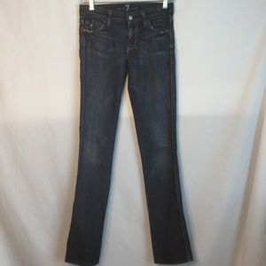 7 for all Mankind Kate Skinny Stretch Sz 24 Jeans